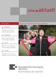 KVNO aktuell 11   2013 - Kassenärztliche Vereinigung Nordrhein