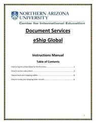 Instructions Manual - Northern Arizona University