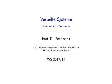 Verteilte Systeme - Hochschule Niederrhein