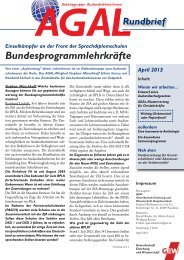 AGAL-Rundbrief April 2013 - GEW