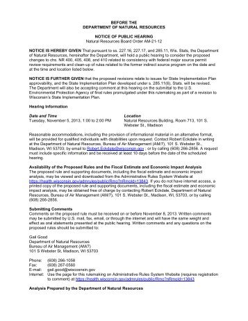 Public hearing 11/5/13 [PDF] - Wisconsin Department of Natural ...