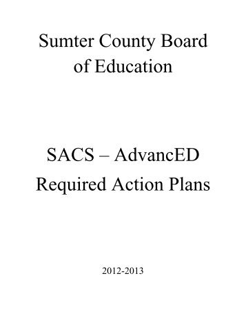 SACS - Required Action Plans - Georgia Department of Community ...