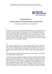 BdV-Fachinformation Nr. 1 zur Studie - Bund der Versicherten e.V.