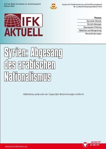 Syrien: Abgesang des arabischen Nationalismus - Österreichs ...