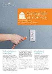 CampusNet ® as a Service - Datenlotsen
