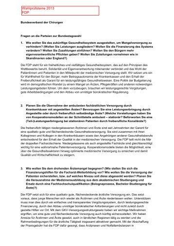 Wahlprüfsteine 2013 FDP - BDC