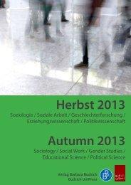 Vorschau Herbst 2013