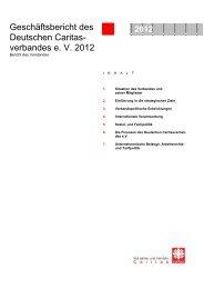 Geschäftsbericht des Deutschen Caritasverbandes 2012
