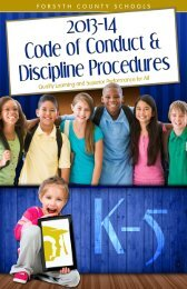 Code of Conduct - Forsyth County Schools