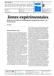 Zones experimentales - Hochschule der Künste Bern