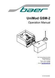 Unimod GSM-2 - Baer Gmbh