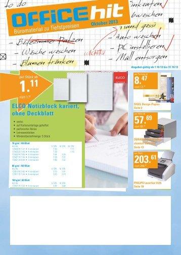 OfficeHit Oktober 2013 - Office Zug AG