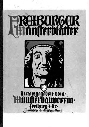 Freiburger Münsterblätter