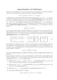 Approximation von Funktionen