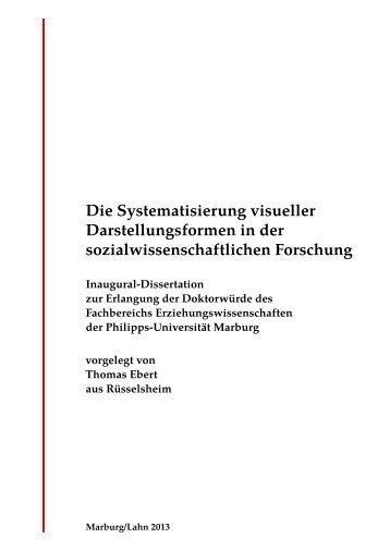Die Systematisierung visueller Darstellungsformen in der ...