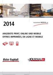 Tarifdokumentation Bieler Tagblatt und Journal du Jura als PDF