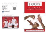 Flyer für Organisationen und Vereine - Benevol St.Gallen
