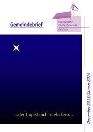 Gemeindebrief - Evangelische Kirchengemeinde Deizisau