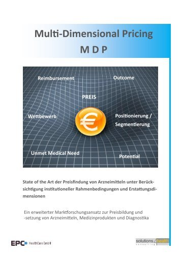 Multi-Dimensional Pricing MDP Unmet Medical Need Potential ...