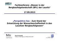 """""""Perspektive See - Zum Stand der Entwicklung der ... - LMBV"""