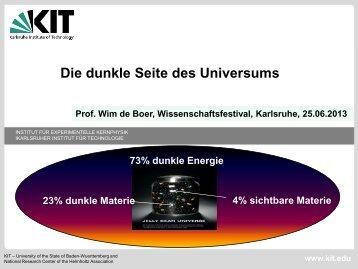Was ist dunkle Materie? - Institut für Experimentelle Kernphysik - KIT