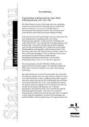 Pressemitteilung Tagestourismus-Erhebung - Dachau