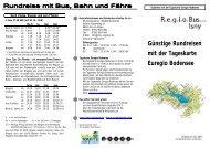 Günstige Rundreisen mit der Tageskarte Euregio ... - in Isny im Allgäu