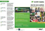 Programm-Faltblatt zum Betriebsstart am 15 ... - Bayerwald Ticket