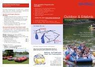 Outdoor & Erlebnis-Katalog Ammersee-Region - Action & Funtours