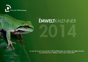 Ëmweltkalenner 2014 - Differdange