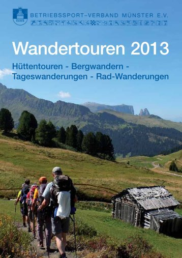Wandertouren 2013 - Betriebssport-Verband Münster
