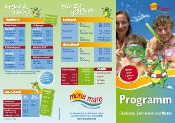 Programm - Mona Mare