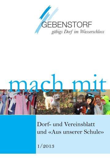 Mach Mit 1/2013 - Gemeinde Gebenstorf