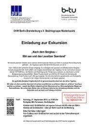 Einladung zur Exkursion - DVW