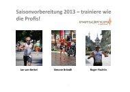 Saisonvorbereitung 2013 – trainiere wie die Profis! - Tempo-Sport AG