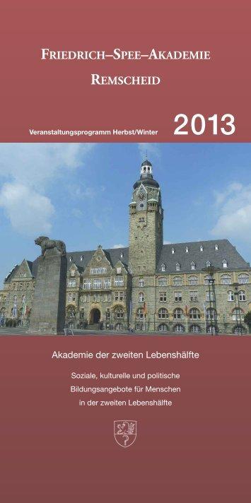 Programmheft als PDF herunterladen - Friedrich-Spee-Akademie