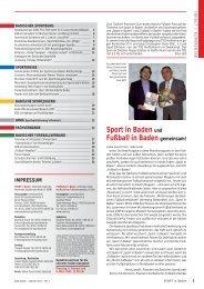 Sport in Baden - Badischer Sportbund Nord ev