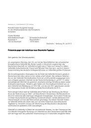 Protestnote gegen Aufschluss neuer Tagebaue - Greenpeace