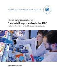 Forschungsorientierte Gleichstellungsstandards der DFG