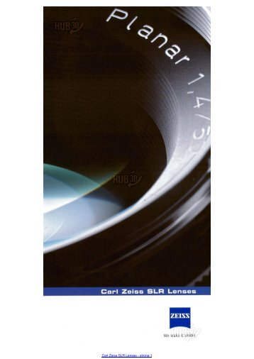 Carl Zeiss SLR Lenses