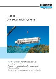 HUBER Grit Separation Systems