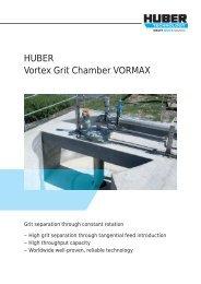 Brochure: HUBER Vortex Grit Chamber VORMAX