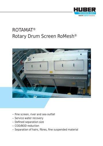 ROTAMAT® Rotary Drum Screen RoMesh