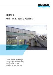 HUBER Grit Treatment Systems
