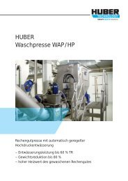 HUBER Waschpresse WAP/HP