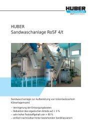 HUBER Sandwaschanlage RoSF 4/t