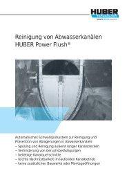 HUBER Power Flush