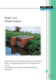 HUBER Edelstahl-Ausrüstungsteile: Regel- und Absperrorgane