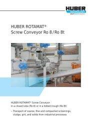 ROTAMAT® Screw Conveyor Ro 8 / Ro 8t