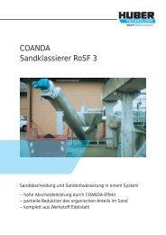 COANDA Sandklassierer RoSF 3